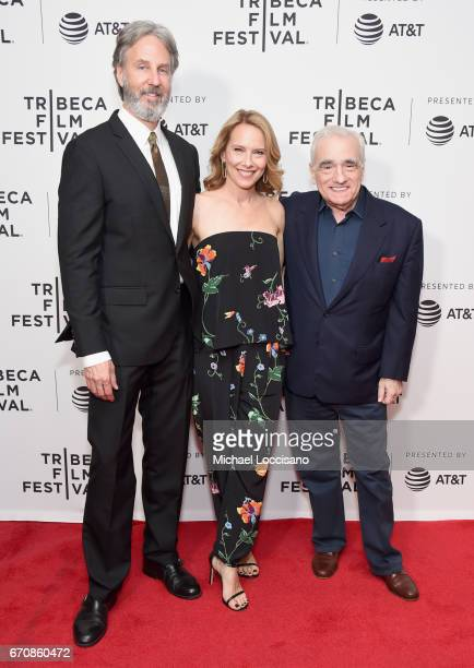 Angus MacLachlan Amy Ryan and Martin Scorsese attend the 'Abundant Acreage Available' Premiere during 2017 Tribeca Film Festival at Cinepolis Chelsea...