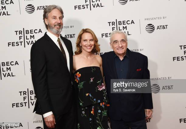 Angus MacLachlan Amy Ryan and Martin Scorsese attend the screening of 'Abundant Acreage Available' during the 2017 Tribeca Film Festival at Cinepolis...