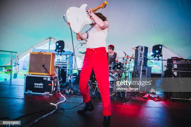 Angus McGuinness of SAP performs on the Rising stage during day 4 at Green Man Festival at Brecon Beacons on August 20, 2017 in Brecon, Wales.