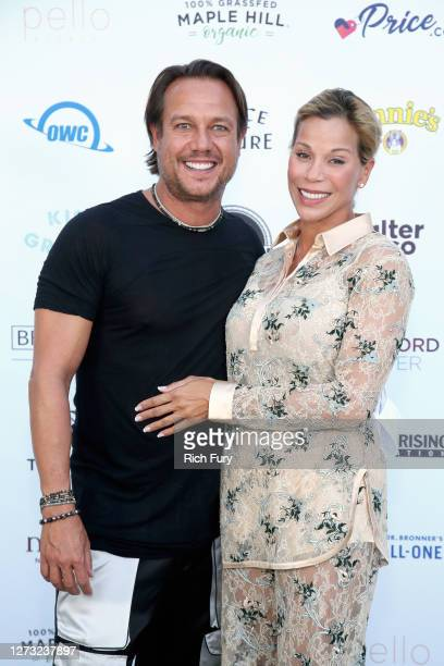 Angus Mitchell and Mara Gourdine attend a Special DriveIn Screening of KISS THE GROUND available on Netflix September 22 2020