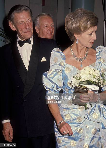 Angus Ogilvy and Princess Alexandra The Honourable Lady Ogilvy attends BAFTA Gala Honoring Michael Caine on October 12 1990 at the Westin South Coast...