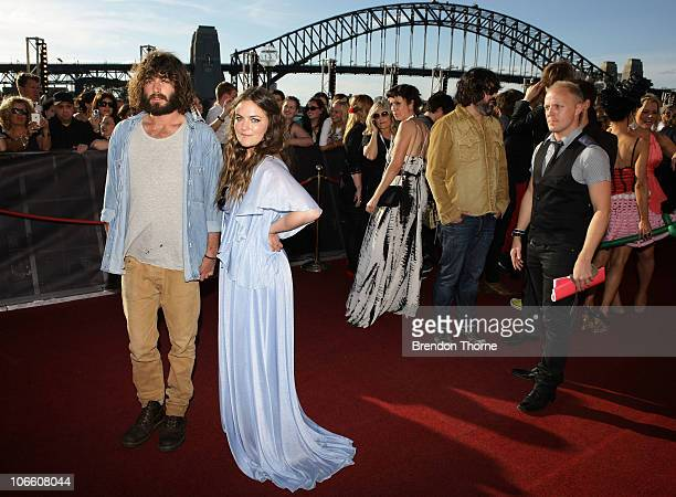 Angus Stone and Julia Stone arrive on the red carpet at the 2010 ARIA Awards at the Sydney Opera House on November 7 2010 in Sydney Australia