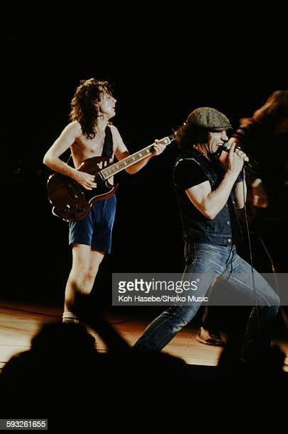 Angus Young and Brian Johnson live at Nippon Budokan Tokyo June 10 1982