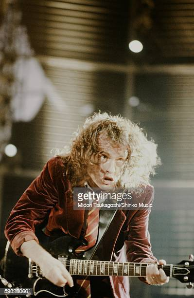 AC/DC Angus Young at Donington Park Circuit England August 17 1981