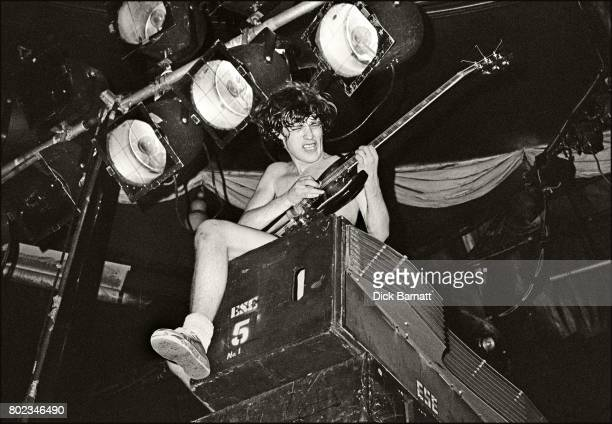 Angus Young of AC/DC performing on stage Lyceum Theatre London United Kingdom on July 7 1976 from the Lock Up Your Daughters Tour