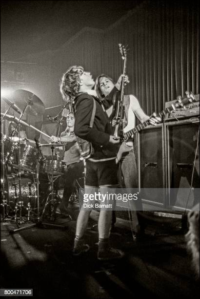 Angus Young of AC/DC performing on stage Nashville Rooms London 27th May 1976