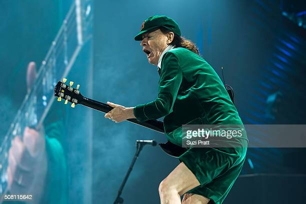 Angus Young of AC/DC performs at Tacoma Dome on February 2 2016 in Tacoma Washington