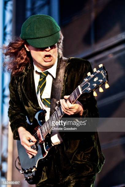Angus Young of AC/DC performs on stage at Download Festival on June 11 2010 in Donington UK