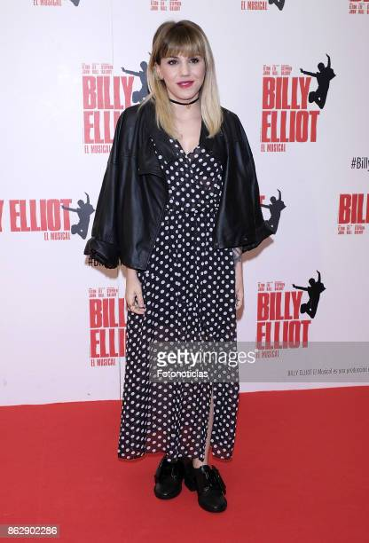 Angy Fernandez attends the 'Billy ElliotEl Musical' premiere at Nuevo Alcala Theater on October 18 2017 in Madrid Spain