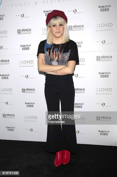 Angy Fernandez attends the 'BLoved' restaurant opening party photocall at the Catalonia Hotel on February 15 2018 in Madrid Spain