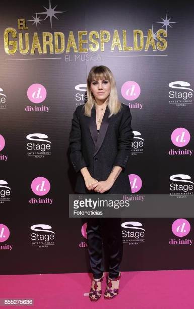 Angy Fernandez attends the 'El Guardaespaldas' musical premiere at the Coliseum Theater on September 28 2017 in Madrid Spain