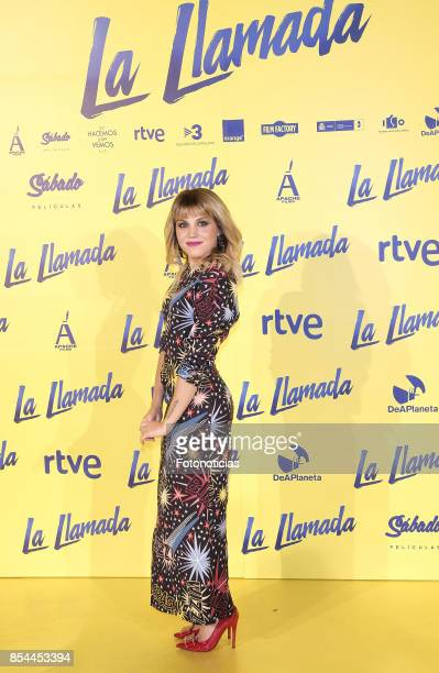 Angy Fernandez attends the 'La Llamada' premiere yellow carpet at the Capitol cinema on September 26 2017 in Madrid Spain