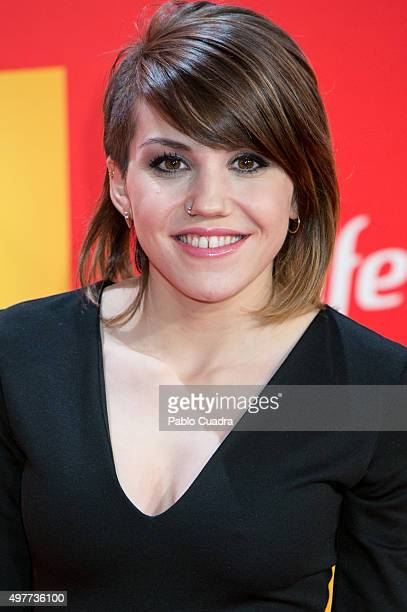 Angy Fernandez attends the 'Ocho Apellidos Catalantes' Premiere at capitol Cinema on November 18 2015 in Madrid Spain