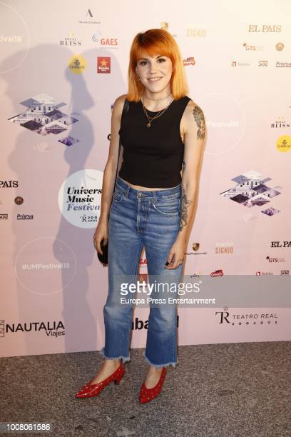 Angy Fernandez attends the Steven Tyler concert photocall at Royal Theatre during Universal Music Festival on July 30 2018 in Madrid Spain
