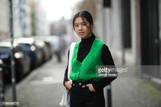 Anh Dinh during the Berlin Fashion Week Autumn/Winter 2020 on January 13, 2020 in Berlin, Germany.