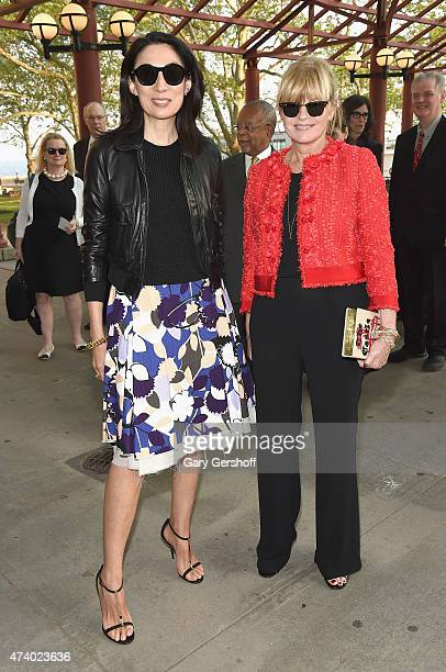 Anh Duong and Anne McNally attend the 2015 Statue Of LibertyEllis Island Foundation's Gala In The Great Hall at Ellis Island National Museum of...