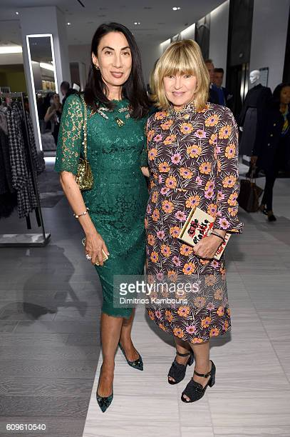 Anh Duong and Anne McNally attend the Saks Fifth Avenue Vanity Fair 2016 International Best Dressed List Celebration at Saks Fifth Avenue on...