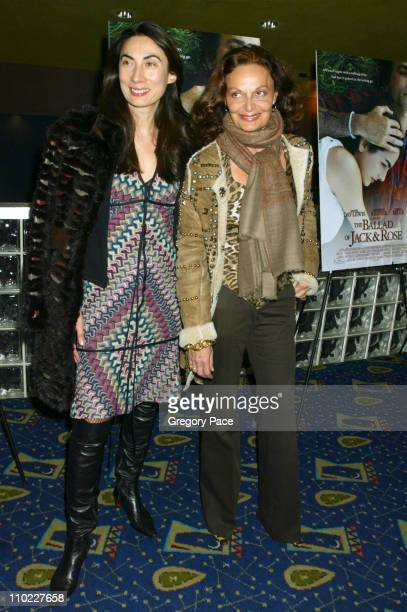 Anh Duong and Diane Von Furstenberg during 'The Ballad of Jack and Rose' New York City Premiere Inside Arrivals at Chelsea West Theater in New York...