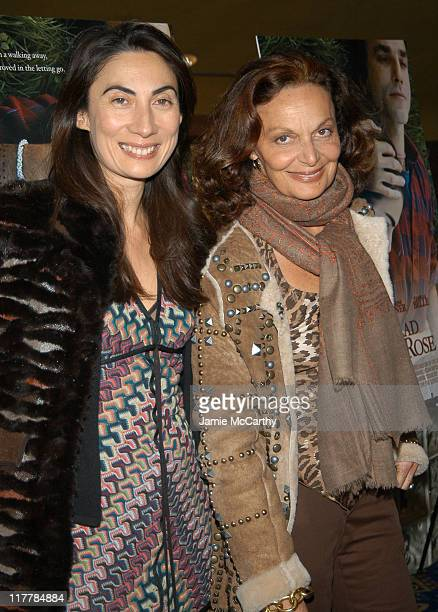 Anh Duong and Diane von Furstenberg during 'The Ballad of Jack and Rose' IFC Film's New York Premiere Inside Arrivals at Chelsea Cinema in New York...