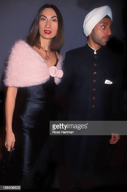 Anh Duong and Vikram Chatwal at the Council of Fashion Designers of America Lincoln Center New York New York 2000