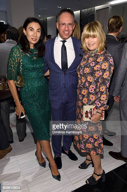 Anh Duong Andrew Saffir and Anne McNally attend the Saks Fifth Avenue Vanity Fair 2016 International Best Dressed List Celebration at Saks Fifth...