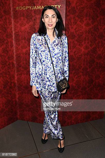 Anh Duong attends the Dolce Gabbana pyjama party at 5th Avenue Boutique on March 15 2016 in New York City