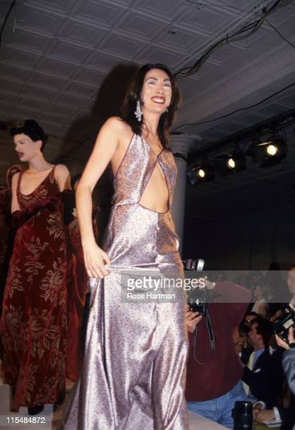 Anh Duong during Isaac Mizrahi 1994 Fashion Show Runway in New York New York United States