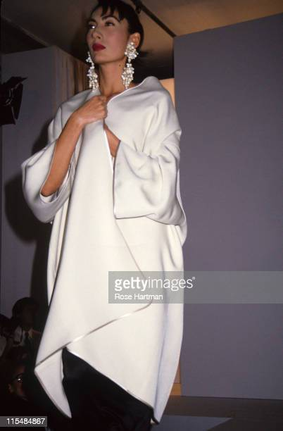 Anh Duong during Isaac Mizrahi Fashion Show 1991 in New York New York United States