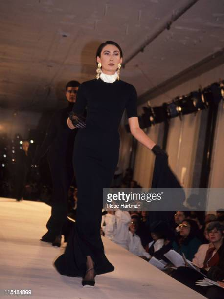 Anh Duong during Isaac Mizrahi Fashion Show 1995 in New York New York United States