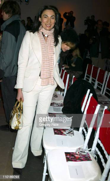 Anh Duong during Olympus Fashion Week Fall 2004 Diane Von Furstenberg Front Row at 389 West 12th Street in New York New York United States