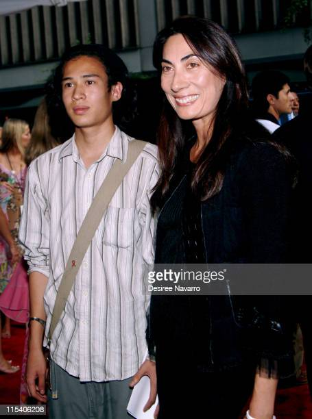 Anh Duong with her nephew Suan during 'Bad News Bears' New York City Premiere Arrivals at Ziegfeld Theatre in New York City New York United States