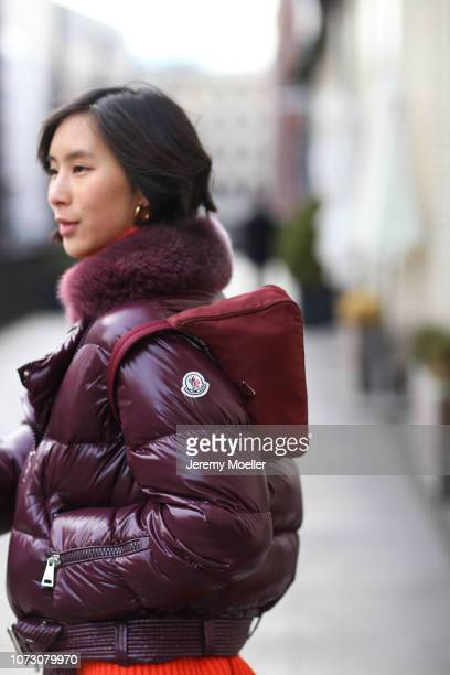 Anh Phoenix wearing a Mocler jacket Prada bag and Yeezy shoes on November 26 2018 in Hamburg Germany