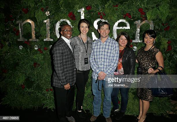 AnheuserBusch Execs attend the Nielsen PreGRAMMY Party at Mondrian Los Angeles on January 25 2014 in West Hollywood California
