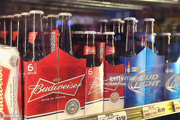 AnheuserBusch InBev products are offered for sale on September 15 2014 in Chicago Illinois Share of SABMiller have surged to an alltime high today on...