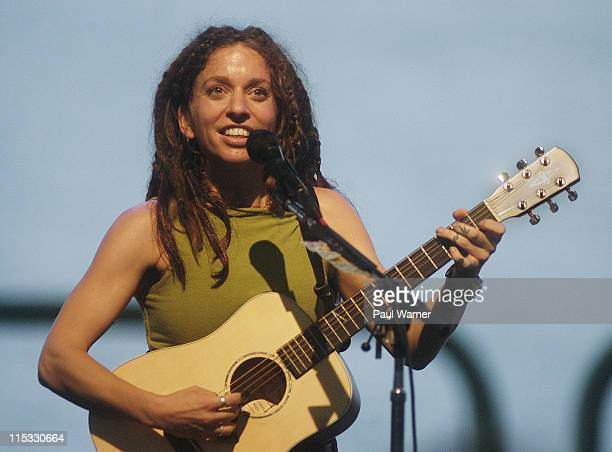 Ani DiFranco during Ani DiFranco performs at the Concert of Colors at Chene Park in Detroit Michigan United States
