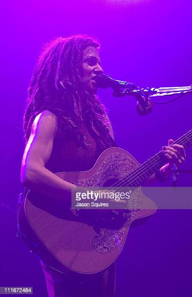 Ani DiFranco during Ani DiFranco Performs Live in Kansas City on February 25 2002 at Liberty Hall in Lawrence Kansas United States