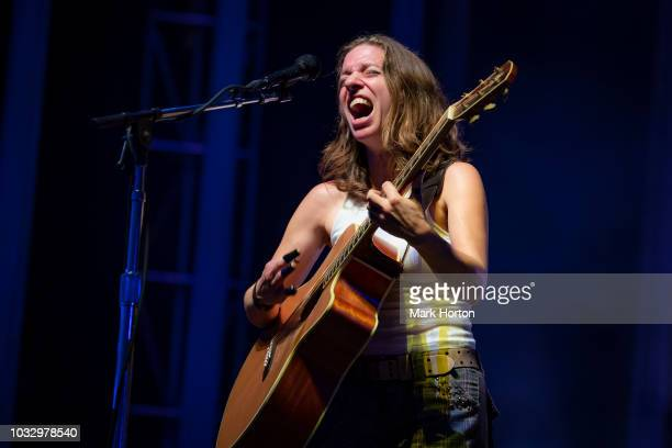 Ani DiFranco performs at the CityFolk festival at Lansdowne Park on September 13 2018 in Ottawa Canada