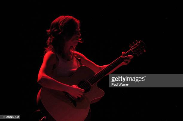 Ani DiFranco performs at The Vic Theater on September 21 2011 in Chicago Illinois