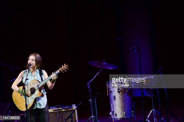 Ani DiFranco performs during This Land Is Your Land The Woody Guthrie Centennial Celebration Concert at The Kennedy Center on October 14 2012 in...