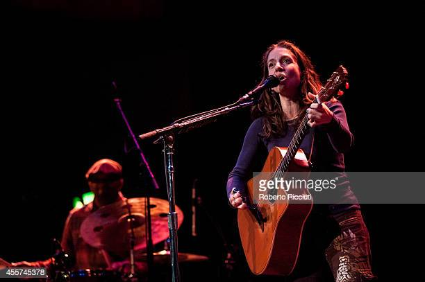 Ani DiFranco performs on stage at Queens Hall on September 19 2014 in Edinburgh United Kingdom