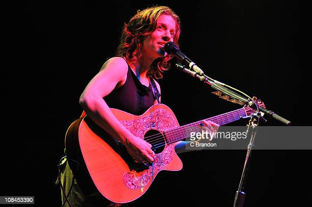 Ani DiFranco performs on stage at Shepherds Bush Empire on January 27 2011 in London England