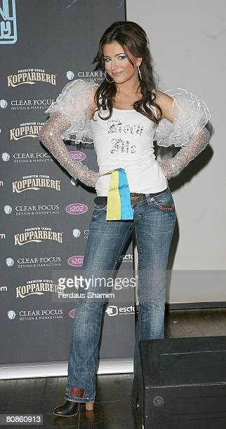 Ani Lorak from Ukraine attends The UK Eurovision Preview Party at the Scala on April 25 2008 in London England