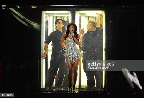 Ani Lorak of Ukraine rehearses for the Eurovision song contest semifinal at Belgrade Arena on May 21 2008 A second semifinal will be held on May 21...