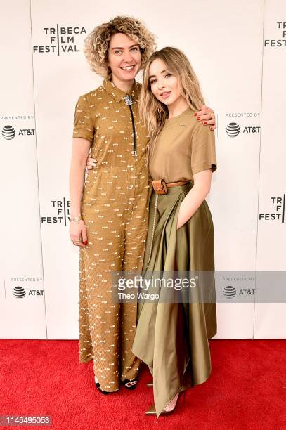 """Ani Simon-Kennedy and Sabrina Carpenter attend """"The Short History Of The Long Road"""" screening during the 2019 Tribeca Film Festival at Village East..."""