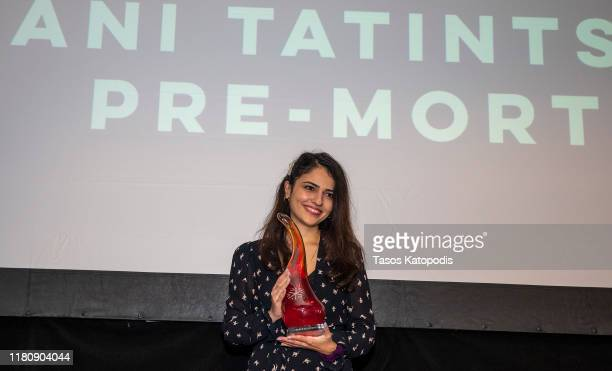 Ani Tatintsyan of 'PreMortem wins Best Comedy Actress at the Catalyst Content Awards Gala on October 13 2019 in Duluth Minnesota