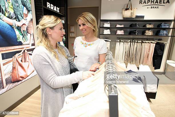 Ania Niedieck and Annica Hansen attend the BRAX Store Opening on May 20 2015 in Cologne Germany