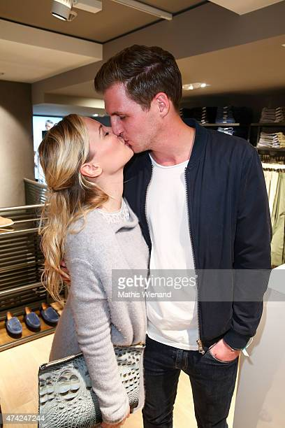 Ania Niedieck and Chris attend the BRAX Store Opening on May 20 2015 in Cologne Germany