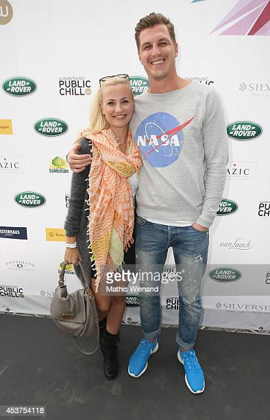 Ania Niedieck and Christian Hecker attend the Land Rover Public Chill 2014 at km689 on August 17 2014 in Cologne Germany