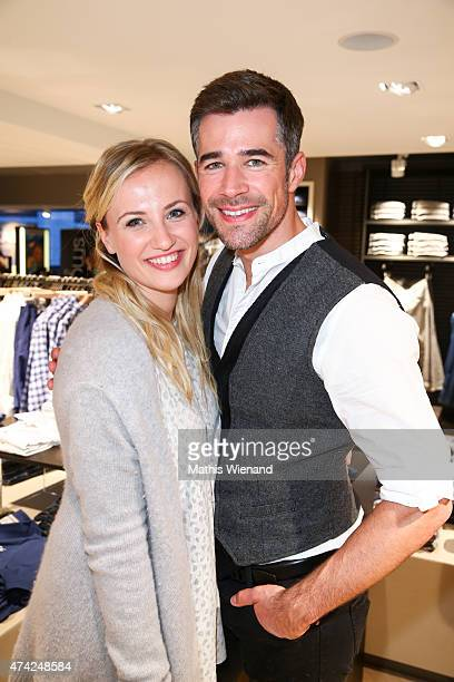 Ania Niedieck and Jo Weil attend the BRAX Store Opening on May 20 2015 in Cologne Germany