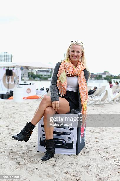 Ania Niedieck attends the Land Rover Public Chill 2014 at km689 on August 17 2014 in Cologne Germany